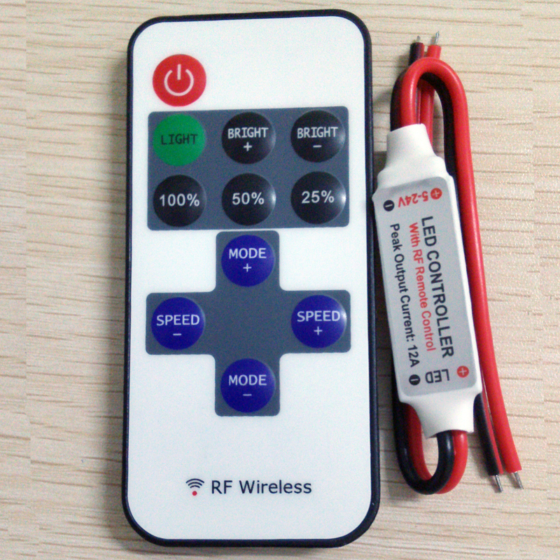free-shipping-12a-5v-24v-led-rf-wireless-mini-remote-dimmer-controllers-rf-wireless-remote-led-controller