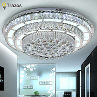 New Design Crystal Modern Led Ceiling Lights For Living Study Room Bedroom Lampe Plafond Avize Indoor