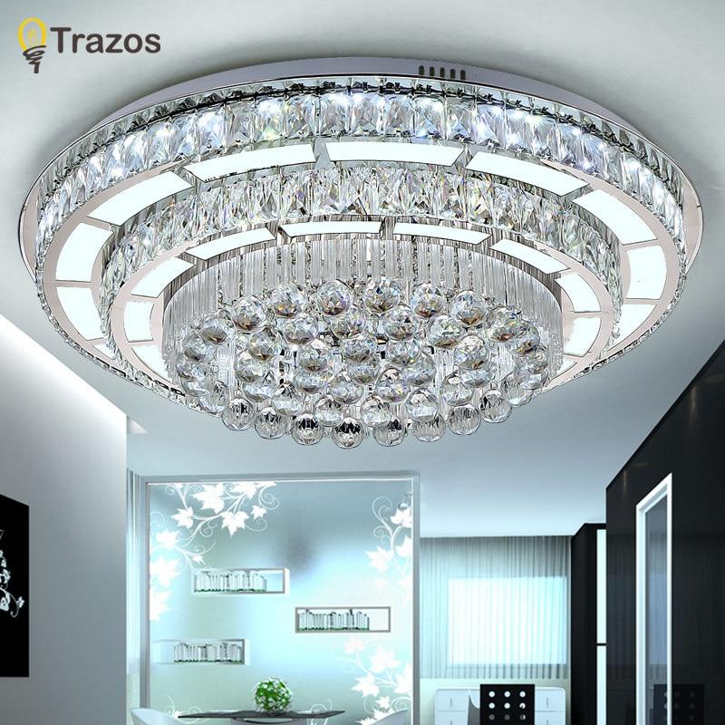 New design crystal modern led ceiling lights for living for Lampe plafond design