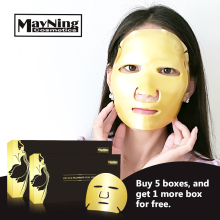 hot deal buy 5pcs/lot mask collagen nourishing anti-aging 24 k gold crystal essence whole face mask for moisturizing skin care treatment mask