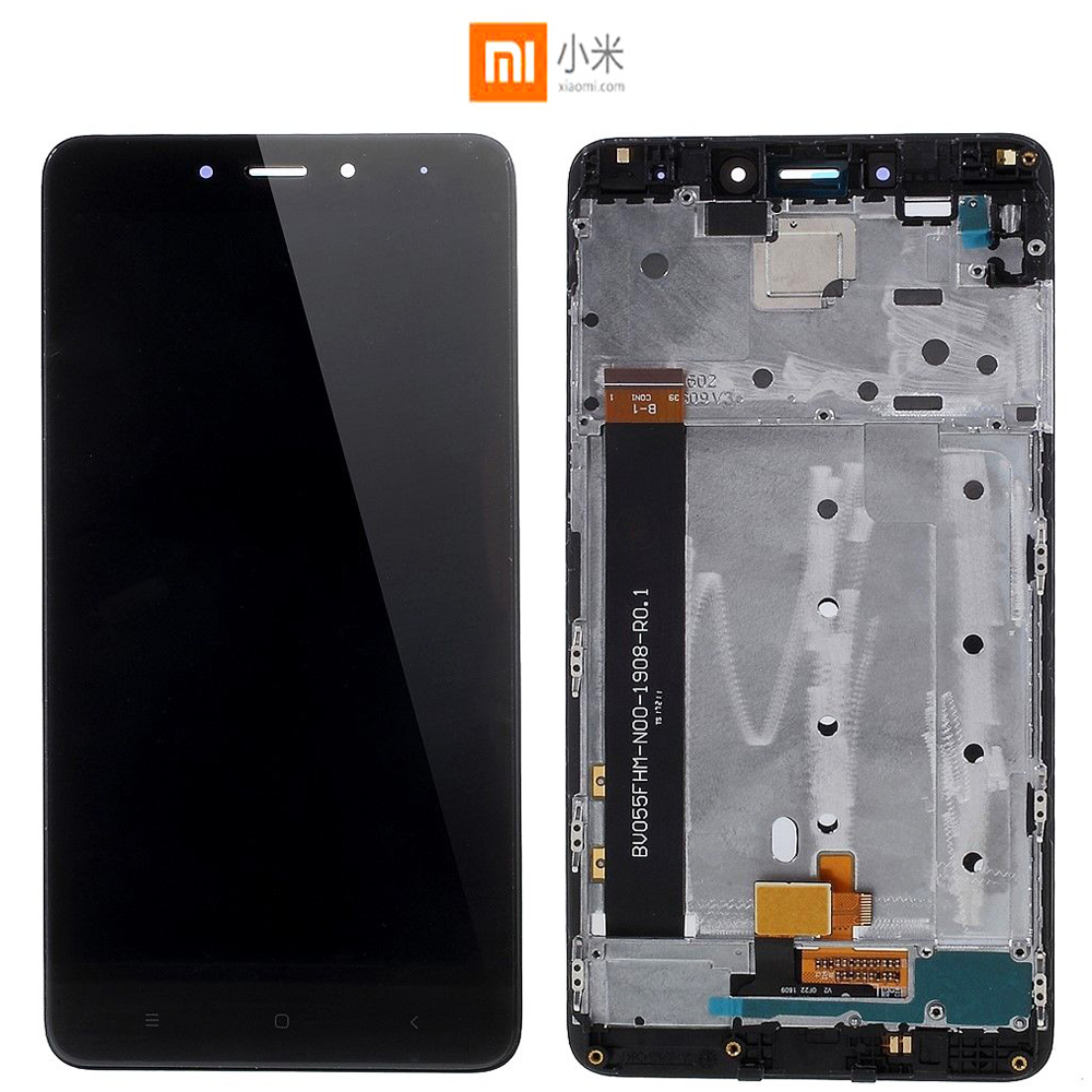 Origina 5.5'' IPS For Xiaomi Redmi Note 4 LCD Display Touch Screen Glass Digitizer Assembly With Frame MTK Helio X20 Version LCD