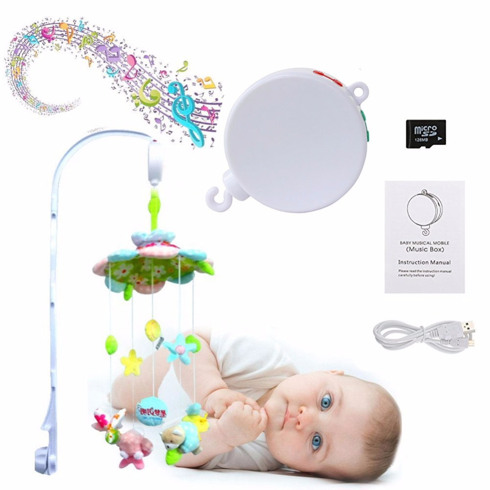 Baby mobile music box for crib SD card included