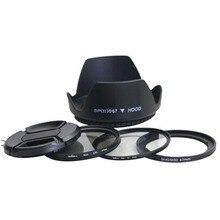 5in1 sx dc 67 мм объектива переходное кольцо комплект + крышка объектива + бленда + uv + cpl фильтр для canon SX30 SX40 SX50 HS для 67 мм объектива