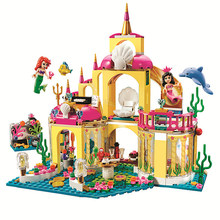 New Princess Undersea Palace 10436 Compatible with Lego Friends Model Building Blocks Bricks Girl Toy Gift for Kids 41063(China)