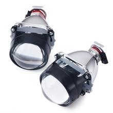 1 pair 2.5 pollici WST Bi Xenon Lente Del Proiettore ha condotto il proiettore luce Utilizzando H1 lampada allo xeno bi xeno proiettore faro