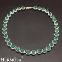 HERMOSA JEWELRY 925 Silver Women Choker Sterling Silver Neckalce Classic Round Style Jewellry Fashion Party Dress