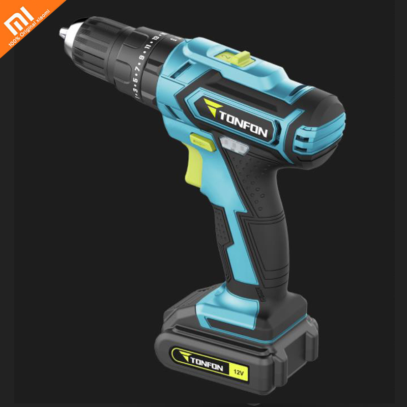 Xiaomi Mijia High Power And Large Torque Portable Mini Rechargeable Lithium Battery 12V Impact Drill Smart Home Household