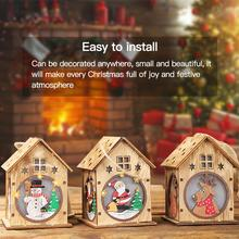 Christmas Ornaments Luminous Cabins Ornaments Hotels Bar Christmas Trees Hanging Decoration Shopping Malls crafts Pendant майка борцовка print bar pusheen christmas