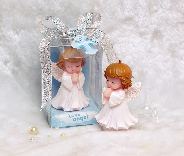50 sztuk ślub dobrodziejstw i prezenty dla gości Baby shower Birthday Party anioł świece na ciasto pamiątki dekoracje świąteczne dostawy w Dekoracje imprezowe DIY od Dom i ogród na  Grupa 1