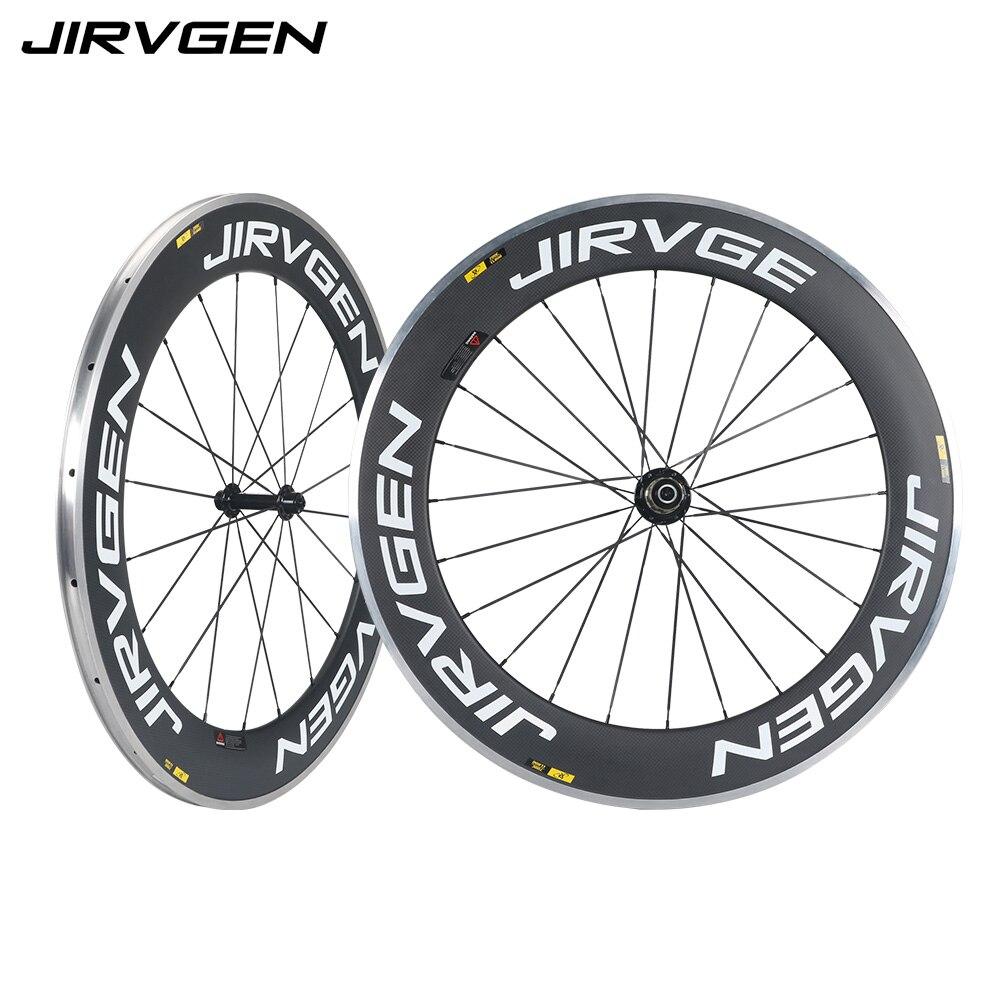 700C alliage frein surface vélo de route roues en carbone 80mm vélo carbone roues 3 K finition mate