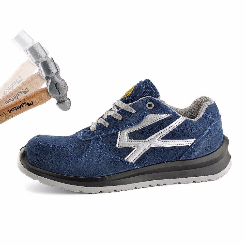 Veiligheid Mannen Werken veiligheidsschoenen Werkschoenen Mens Laarzen Veilig Teen Koe Suède Ademend Hoge Kwaliteit S1P US 5 13-in Werk en veiligheidslaarzen van Schoenen op  Groep 3