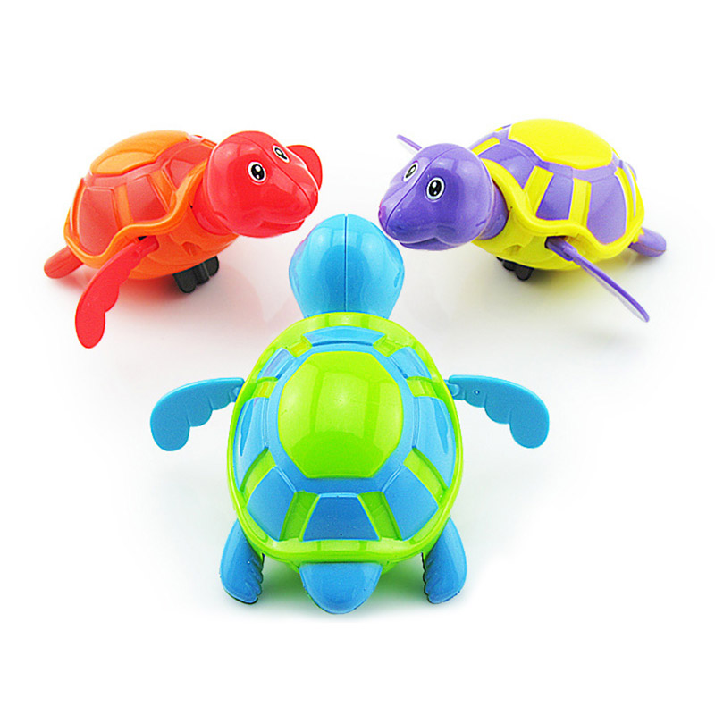 1pcs Bath Toys Turtle Dolphin Baby Shower Baby Wind Up Swim Play Toy Swimming Pool Accessories Baby Play In Water Random Color Classic Toys