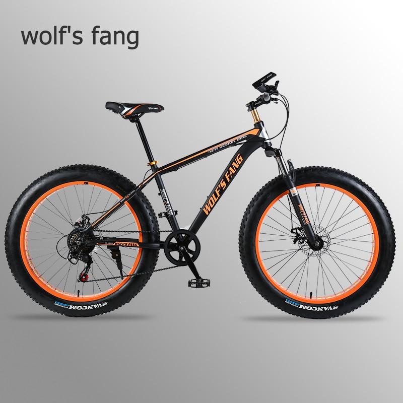 wolf s fang bicycle Mountain Bike road bike Aluminum alloy frame 26x4 0 7 21 24speed Innrech Market.com