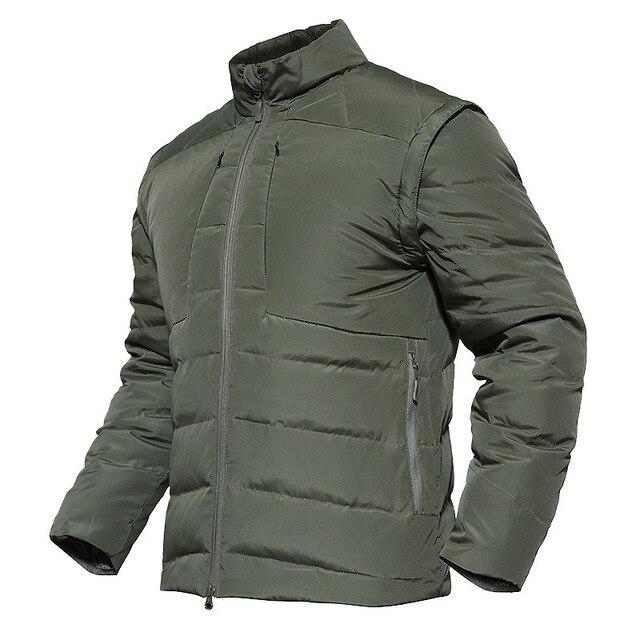 c13d5d6a7d5 Men's Outdoor Duck Down Jacket Vest Climbing Camping Coat Tactical Windbreak  Waterproof Warm Winter -15 Dgree Hunting Clothes