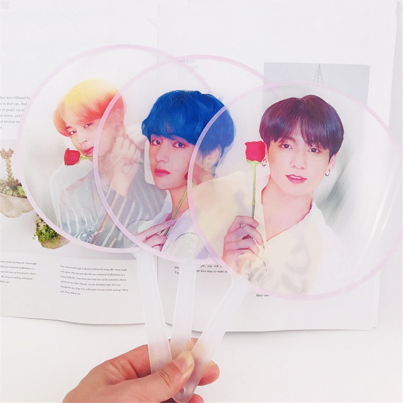 United K-pop Boy With Luv Bts Bangtan Boys Pvc Transparent Hand Fan Map Of Soul Persona Fans Collection Jung Kook Jimin Jin Suga Yg02 For Improving Blood Circulation Costume Props