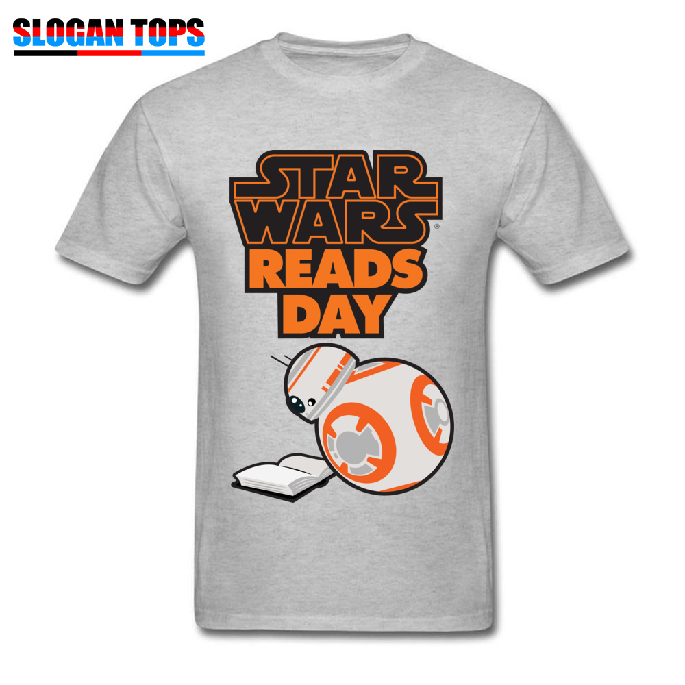 Men T-Shirt star wars aftermath Printed On Tops Tees 100% Cotton Round Neck Short Sleeve Normal Tee-Shirts VALENTINE DAY star wars aftermath grey