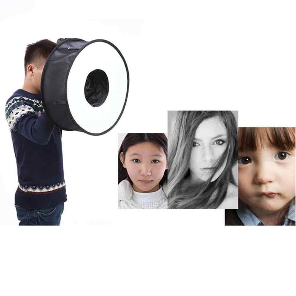 EastVita Pliable Anneau Diffuseur/Softbox Pliable 46 cm Anneau Softbox Macro Ring Flash 18x18 Pouces pour Canon nikon Sony r29
