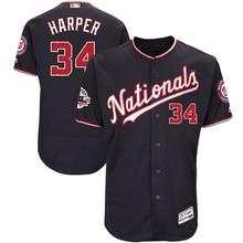 9183a6f3 MLB Men's Washington Nationals Bryce Harper Majestic Navy 2018 All-Star  Game Alternate Flex Base