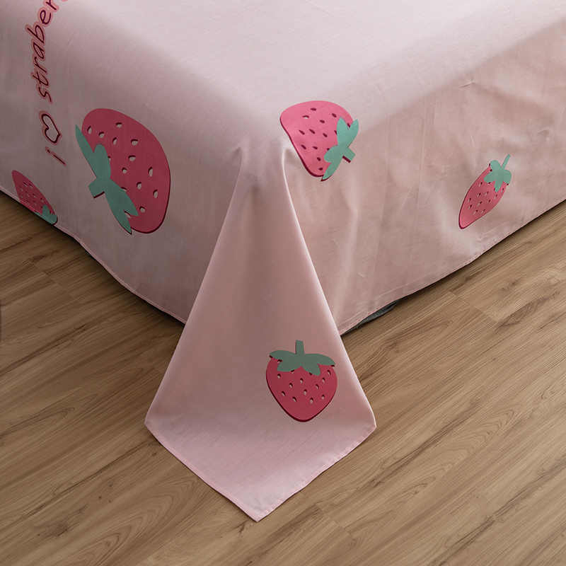 Розовый сладкий клубника простыня с рисунком 100% хлопок простыня для детей/постельные принадлежности для взрослых наматрасник покрывало набор покрывала