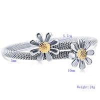 2017 Nuovo arrivo Del Sole fiore bracciale in acciaio braccialetti d'acciaio di titanio di modo femminile wedding party gioielli per le donne regalo