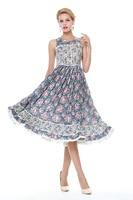 Woman Summer Printed Floral Vintage Dresses 50s 60s Retro Dress Pinup Rockabilly Party Dresses Robe Vestidos Femininos De Playa