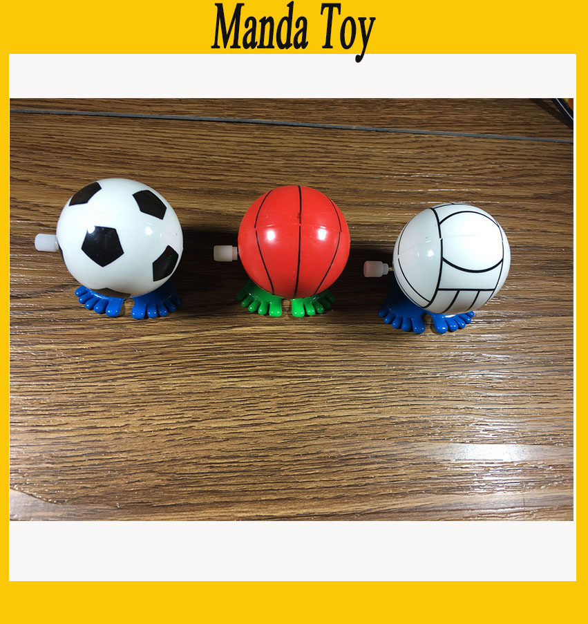 Supply 3pcs/lot Sport Wind Up Ball Classic Kids Toys Basketball Baseball Football Wind Up Toy Free Shipping Strengthening Sinews And Bones