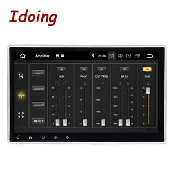 """Idoing 1Din 10.2\""""PX5 4G+64G Android 9.0 8Core For Universal Car GPS DSP Radio Player IPS screen Navigation Multimedia Bluetooth"""