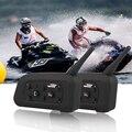 2pcs V6 Motorcycle Helmet Bluetooth Headset Intercom 6 Riders 1200M Wireless Interphone BT MP3 GPS intercom