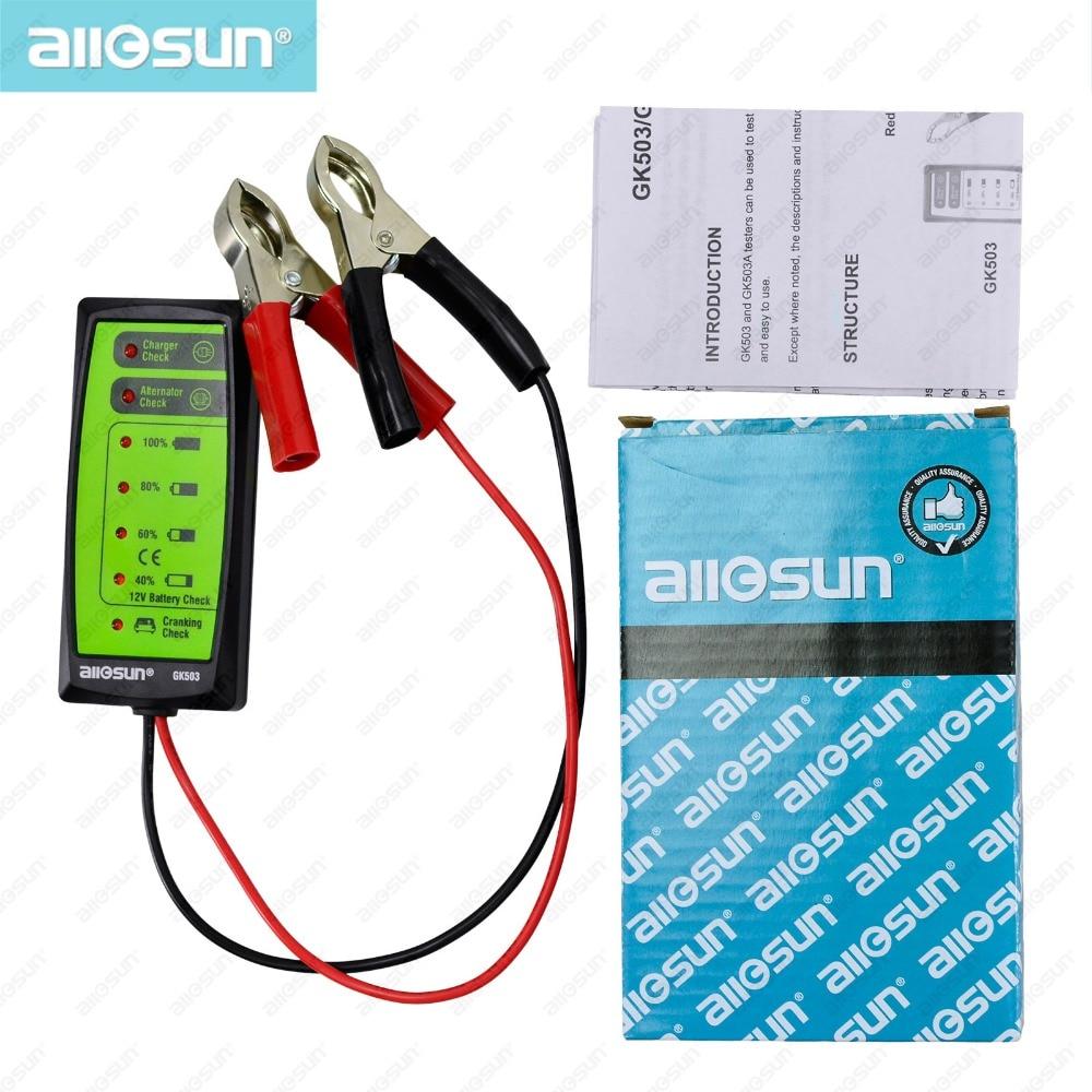 Mini 12V Automotive/ Car Battery Tester Charger/ Alternator ...