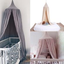 Algodón 6 Colores Niños Colgando Cortina Dome Bed Canopy Mosquitera Colcha Del Lecho Del Bebé para el Bebé Niños Lectura Jugando En Casa