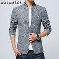 Homens Blazer paletós casuais coreano moda slim fit blazer ternos outono gola jaqueta mens terno bleiser hombre