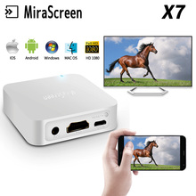 MiraScreen X7 Wireless link Box For iOS Android Phone Audio Video Miracast WIFI Display DLNA Receiver Mirroring HD AV to Car