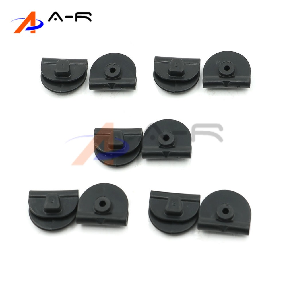 10 Pcs Motorcycle Accessories Black Battery Cover Left Side Cover Clips for Harley Sportster XL 883 XL 1200 2014-2017 rubing matching motorcycle accessories ybr125k end cover assembly on the left side of ash