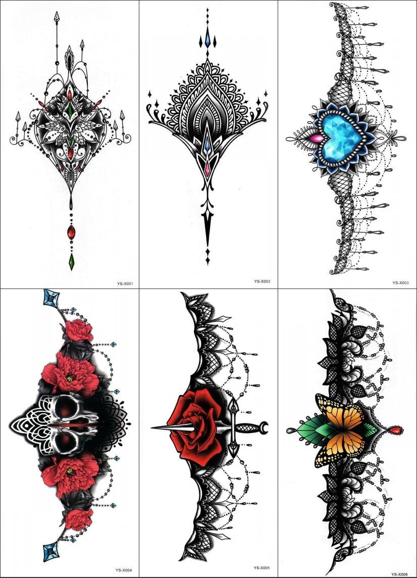 2 hoja 3D bestia colorida etiqueta engomada del tatuaje temporal ...