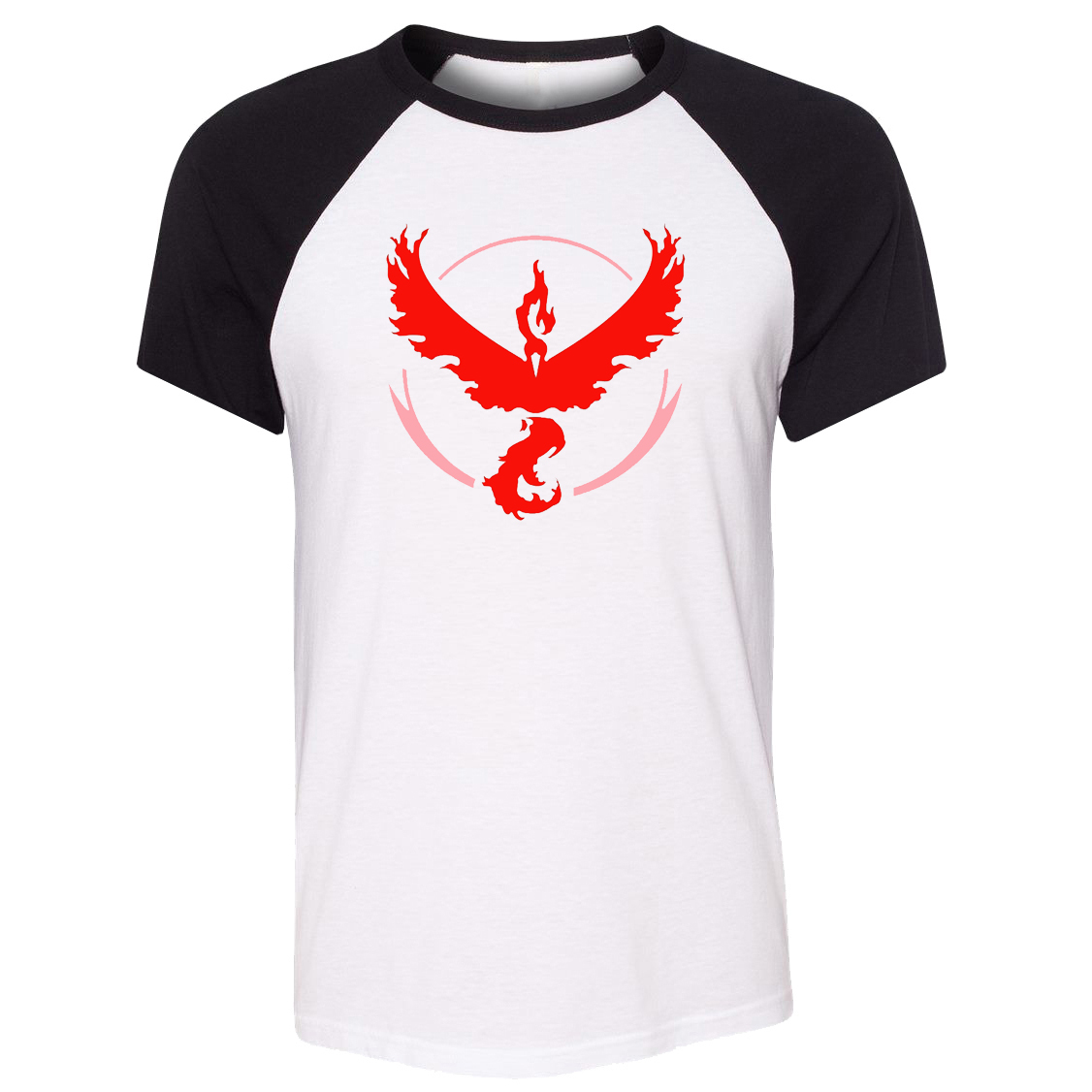 iDzn Unisex T-shirt Pokemon Go Game Fans Articuno Zapdos Moltres team Art Pattern Raglan Short Sleeve Men T shirt print Tee Tops