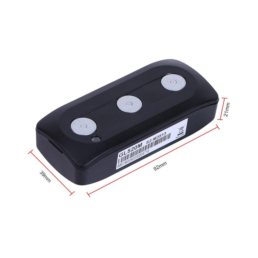 Автомобильный gps навигатор GL520M CR123A 1400mAh аккумулятор gps трекер GSM устройство слежения с магнитным креплением чехол низкое энергопотребление - 5