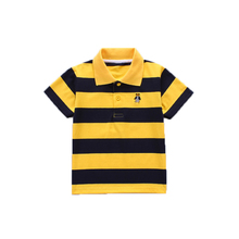 2018 Summer Clothes Boys Polo Shirts Short Sleeves Bear Embroidery Cotton for Full Size 2-14 Shirt