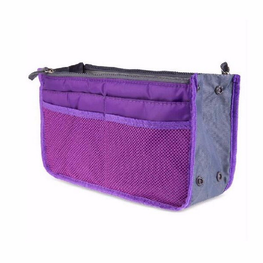 13 Colors Make up Organizer Bag Men Casual Travel Bag Multi Functional Women Cosmetic Bags Storage Bag in bag Makeup Handbag