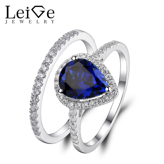 filled angels blue cz iron jewelry promise product gold unique wedding anniversary enagagement sapphire women black ring rings