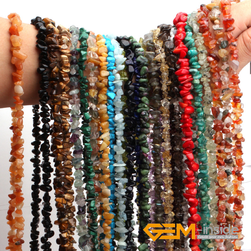 Perles de pierre en forme de copeaux naturels (matériau Perido t Fluorite Malanchite grenat Lapis Lazuli Ametr ine) support 34 livraison gratuite