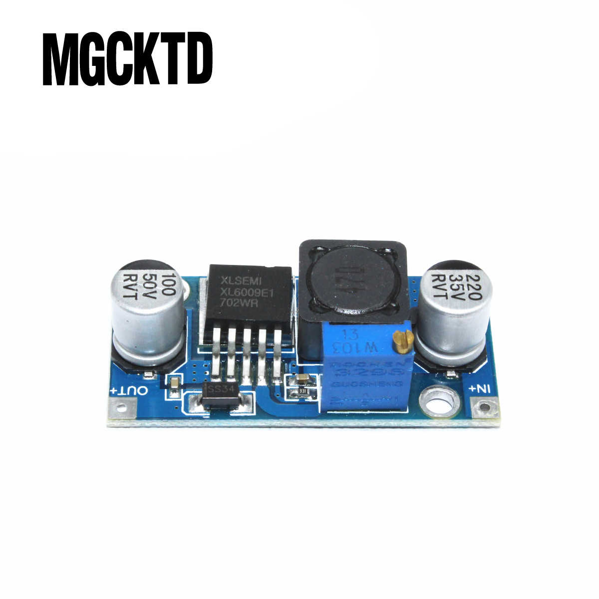 Asli XL6009 DC-DC Booster Modul Power Supply Modul Output Disesuaikan Super LM2577 Step-Up Modul