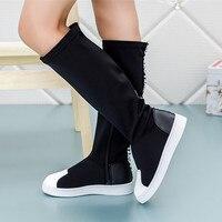 Ребенок Сапоги и ботинки для девочек для модная одежда для девочек Jack Сапоги и ботинки для девочек Дети Детские колено Сапоги и ботинки для ...
