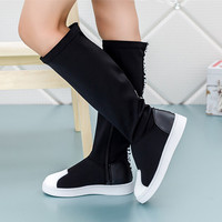 Child Boots For Girls Fashion Jackboots Kids Baby Knee Boots Shoes Shell Head Autumn Lycra Stretch