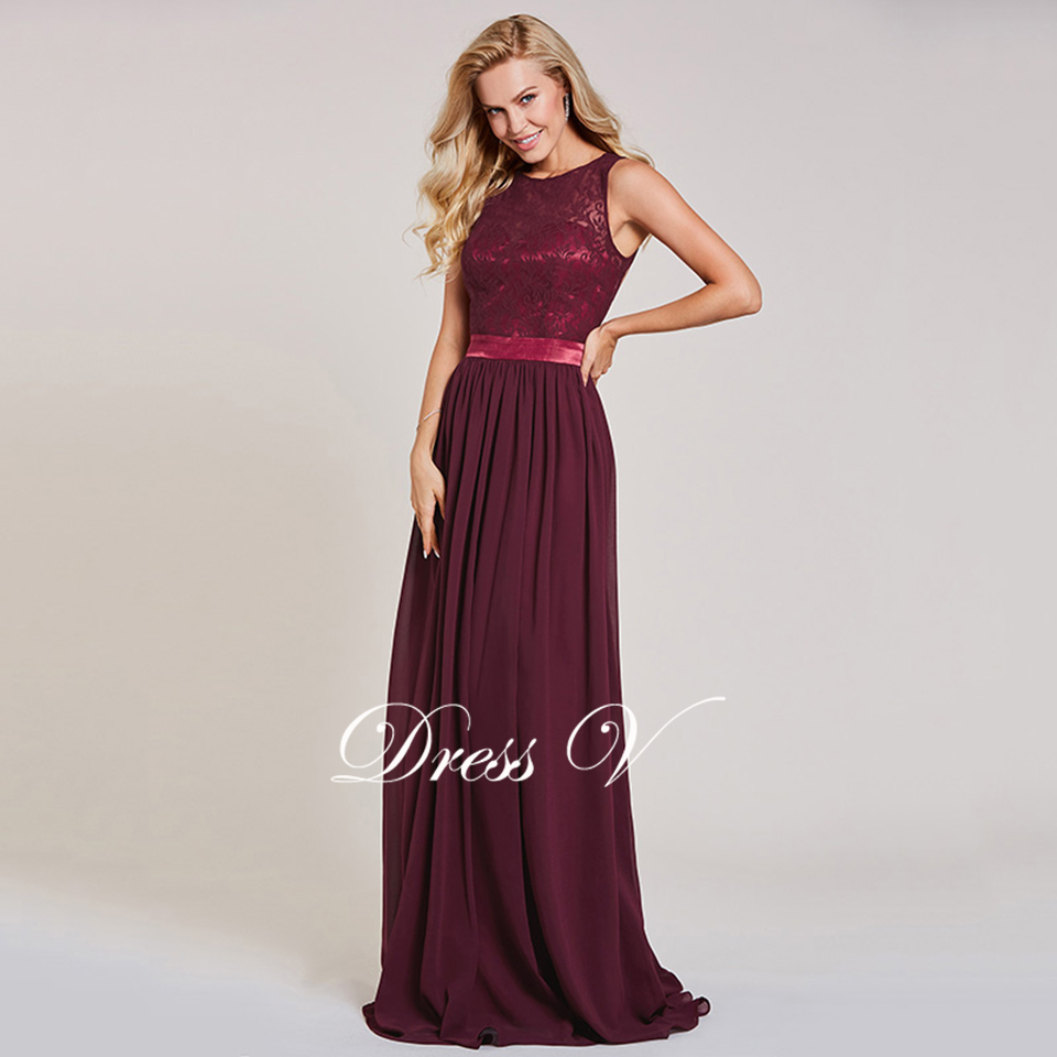 Dressv rust red long evening dress cheap a line spring sleeveless wedding  party formal dress backless lace evening dresses afce7f3266d0