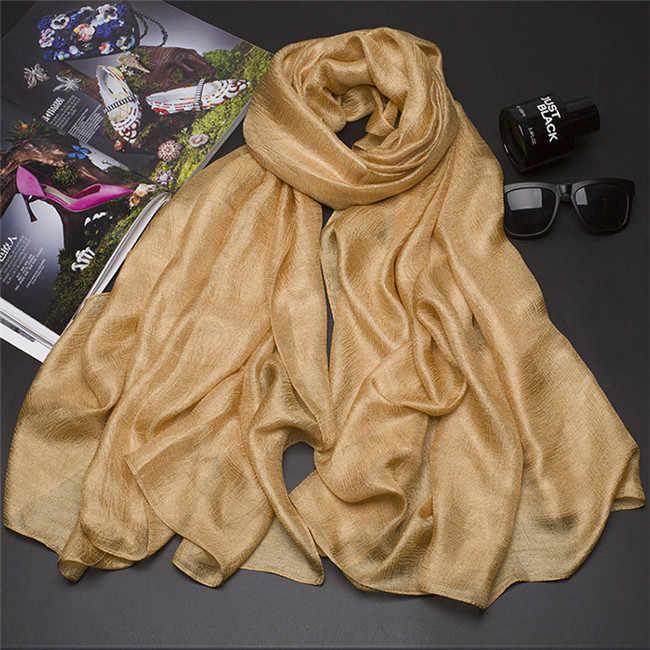 Новый перламутровый Одноцветный льняной шелковый шарф, шаль, осенний зимний шарф, женские красивые шарфы, деформация Echarpes fulards Femme