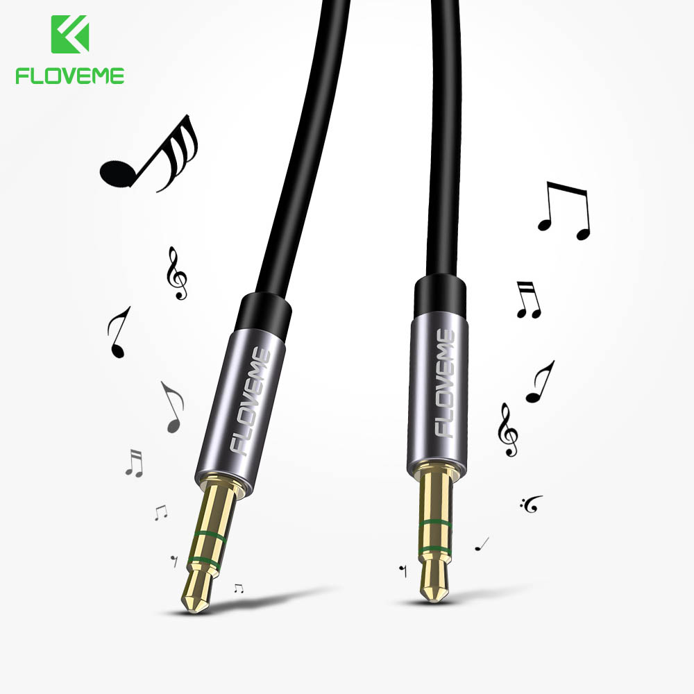 floveme audio cable 3 5mm jack male to male aux cable