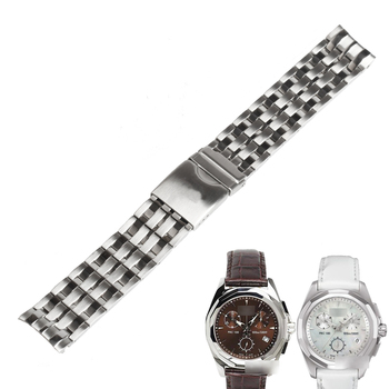 WENTULA watchbands for TISSOT  T008 PRC100 T22 stainless steel solid band  folding buckle