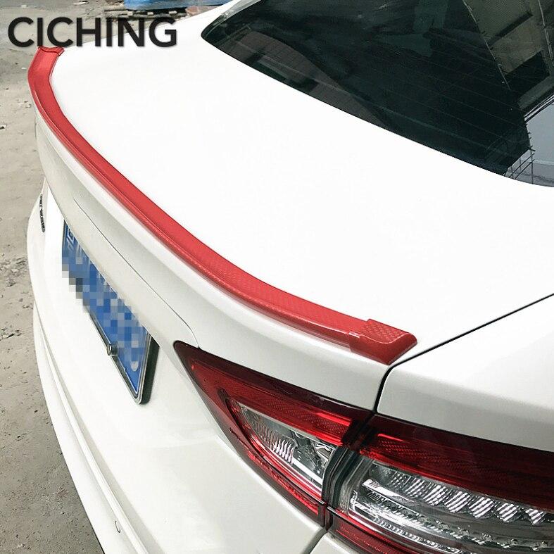 Adaptable Universal Pu Carbon Fiber Trunk Lip Spoiler Or Roof Spoiler Body Kit Trim Sticker 1.5 Meters