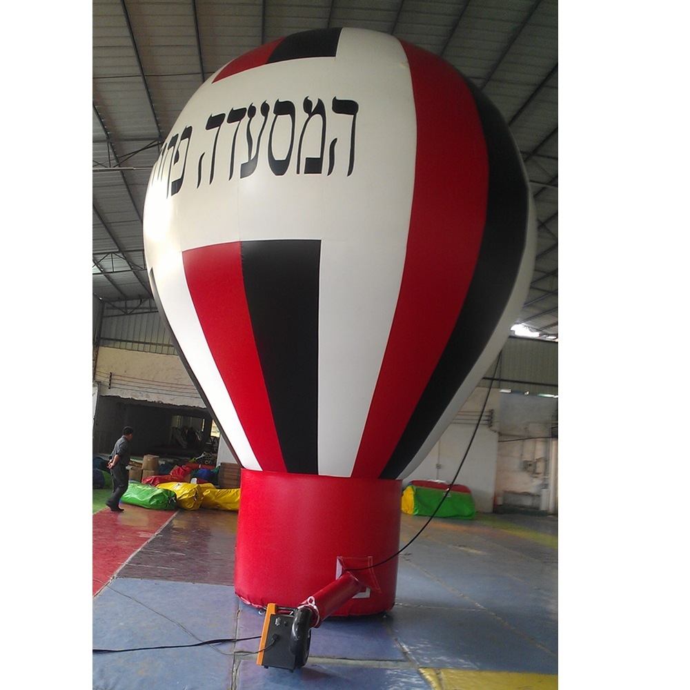 5m height inflatable advertising helium balloon PVC high quality inflatable hot air balloon for outdoor event