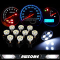 10x T10 W5W 4-SMD 1210 LED Speedo Dashboard Dash Instrument Map Panel Side Light Bulbs Lamp W/ Twist Holder Socket
